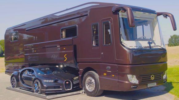 Deze multi-miljoenen camper komt inclusief een dikke Bugatti