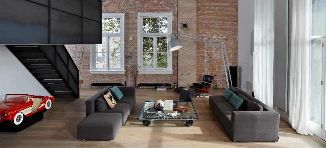 Industrieel Amsterdams loft krijgt een tijdloze upgrade