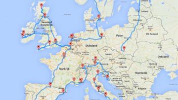 Roadtrip Europa Dit Is De Perfecte En Meest Efficiënte Route