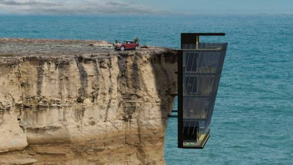 Living on the edge: Dit klifhuis is waanzinnig