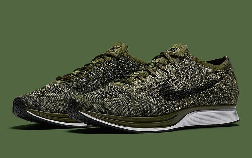 De Nike Flyknit Racer is bijzonder stijlvol in de kleur 'Rough Green'