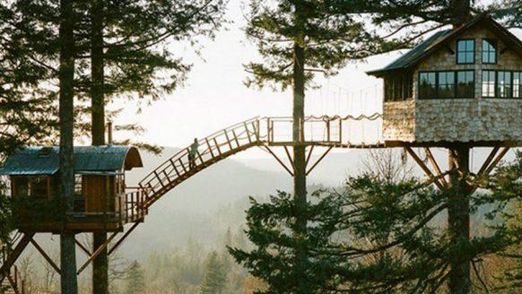 Vrienden goals: bouw samen boomhutten en een skatepark in de natuur