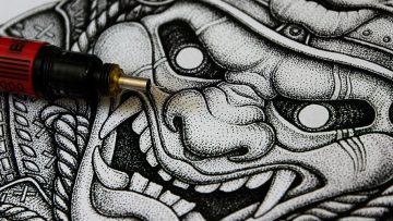 Tattoo inspiratie: de pointillism stijl is een waar kunstwerk