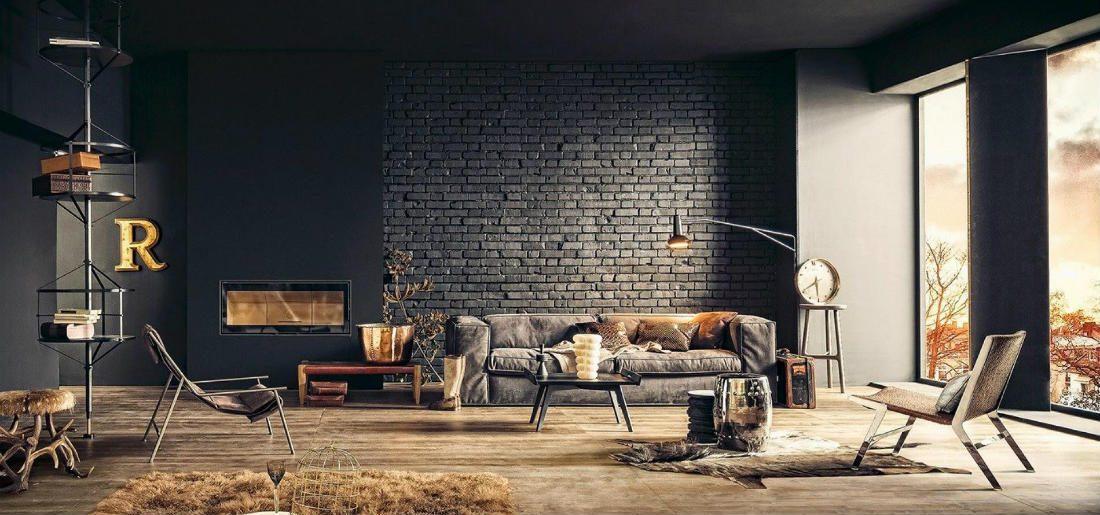 Zeer Inspiratie: een bakstenen muur geeft je woning de ultieme loft  &KA58