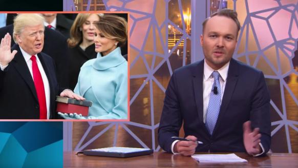 Arjen Lubach stelt Nederland op hilarische wijze voor aan Trump