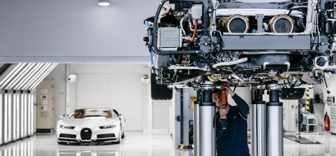Zo wordt de brute Bugatti Chiron tot leven gebracht