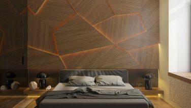 Houten wand achter het bed is de upgrade voor je slaapkamer