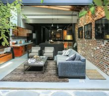 Garage omgebouwd tot prachtige, industriële woning