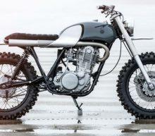 Yamaha SR500 omgetoverd tot simplistische scrambler