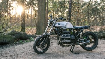BMW K75s omgetoverd tot brute scrambler van Nederlandse bodem