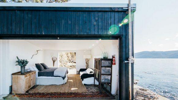 Droom weg bij deze containerwoning in Tasmanië