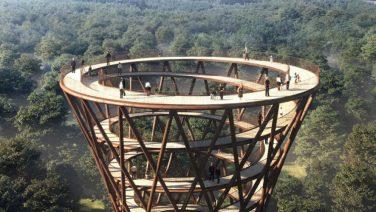 Dit uitkijktoren-concept in de natuur van Kopenhagen is fenomenaal