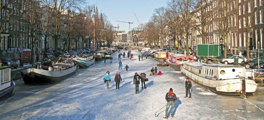 We kunnen mogelijk binnenkort schaatsen op de Amsterdamse grachten