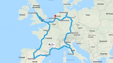 Dit is de ultieme voetbalreis door Europa