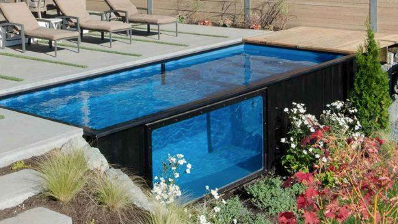 Dit containerzwembad is dé toevoeging aan jouw achtertuin