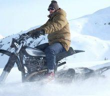 Motor Yamaha HL500 uit 1979 omgebouwd tot sneeuwcrossmotor