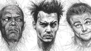 Vince Low maakt filmsterportretten zonder zijn pen van het papier te halen