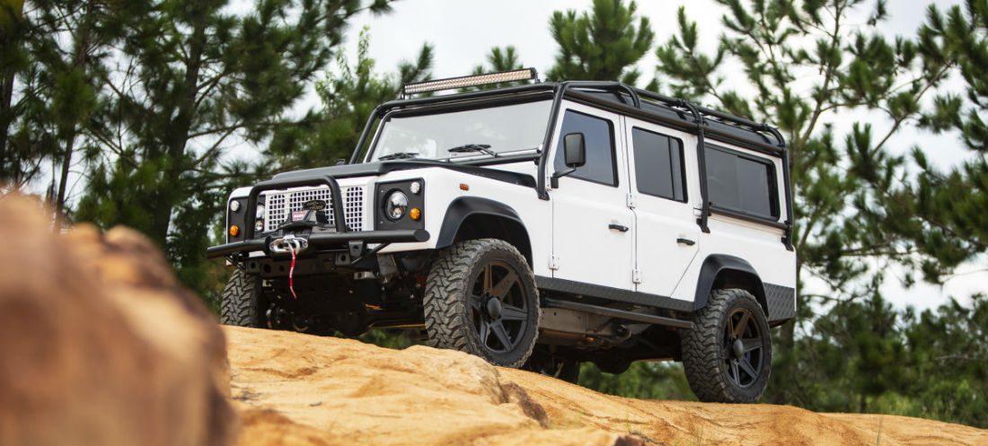 De 150e E.C.D. custom Land Rover Defender is de krachtigste tot nu toe