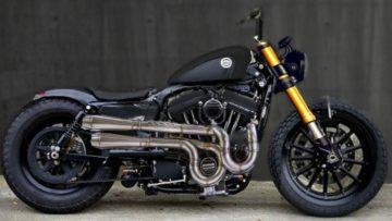 Een customized motor van eigen bodem: Moto Adonis komt met een unieke Harley-Davidson