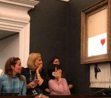 Dit Banksy-schilderij vernietigde zichzelf nadat 'ie voor ruim 1 miljoen geveild is