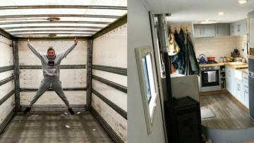 Koppel tovert krakkemikkige vrachtwagen om tot waanzinnig huis op wielen